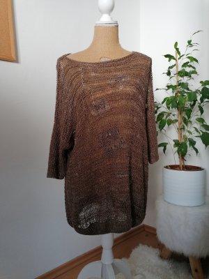Opus Pull en crochet gris brun