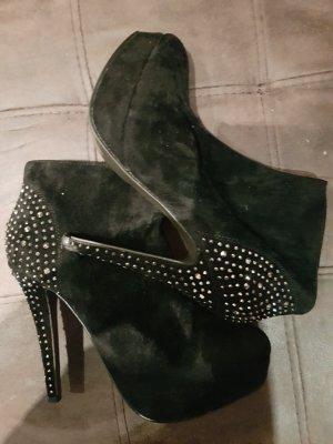 Damen halb Stiefel mit glitter-steine gr. 39