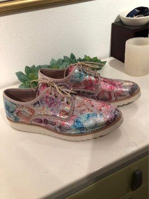 Zapatos brogue multicolor