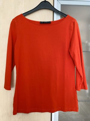 Hallhuber Boatneck Shirt dark red-red