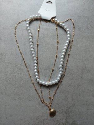 Damen Halskette mit Perlen