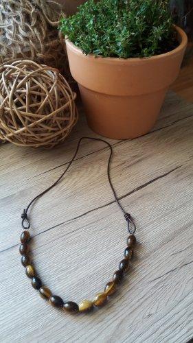Damen Handgemachte Tigerauge Edelstein Halskette.