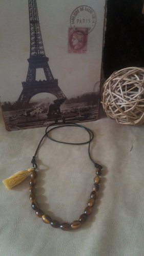 Bid Handmade Collar estilo collier multicolor tejido mezclado