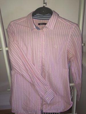 Gina Tricot Koszula z długim rękawem jasny różowy-biały Bawełna