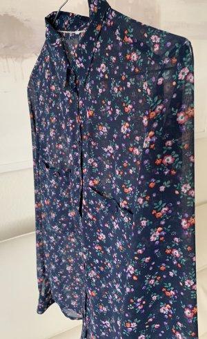 Damen Hemd Blümchen Navy Gr. S