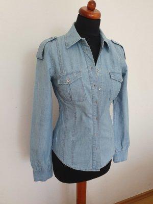 Damen Hemd Jeanshemd