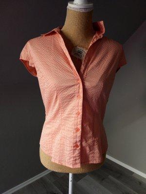 H&M Chemise à manches courtes blanc-abricot