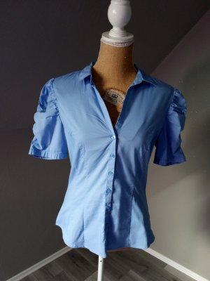 H&M Chemise à manches courtes bleu clair