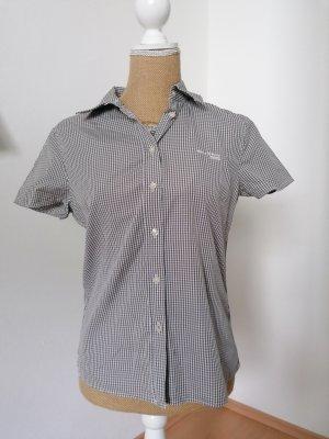 Marc O'Polo Camisa de manga corta blanco-marrón grisáceo