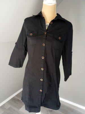 Boysen's Abito blusa camicia nero-oro