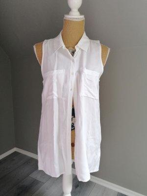 H&M Camisa de manga corta blanco