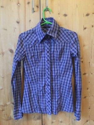 Silvian heach Chemise à manches longues violet coton