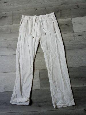 Esmara Pantalon en lin blanc