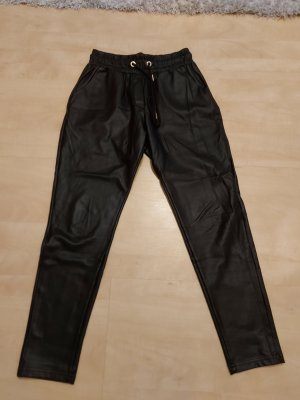 ohne Marke Leather Trousers black