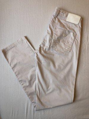 Armani Jeans Pantalon chinos rosé coton