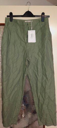 Ichi Jersey Pants sage green linen