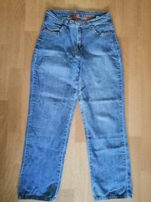 Pantalón de cintura alta azul