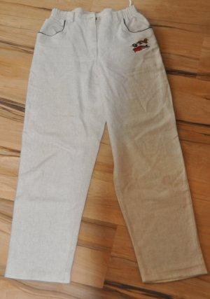 Pantalón de lino blanco puro-blanco Algodón
