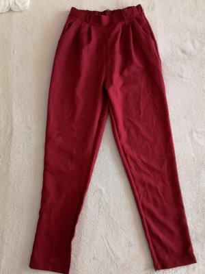 unbekannte Pantalone di lino rosso scuro