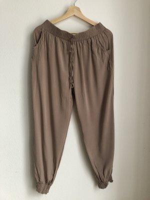 Pantalón estilo Harem beige-camel