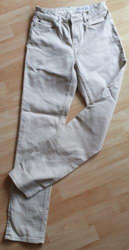 Damen Hose Jeans beige creme Esmara Gr 38 slim fit
