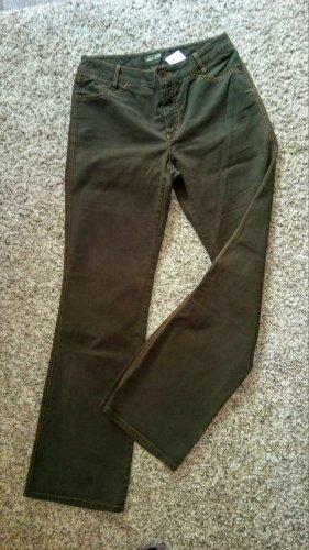 Rosner Pantalone cinque tasche verde scuro Tessuto misto
