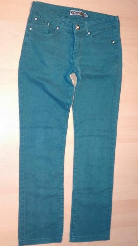 Simply Chic Jeans stretch vert forêt coton