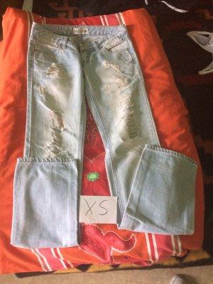 MISS ANNA Jeans flare bleu azur