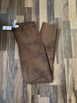 Calzedonia Spodnie z wysokim stanem brąz-brązowy