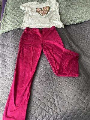 Lauren by Ralph Lauren 7/8 Length Trousers violet cotton