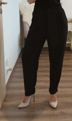 Damen Hose schwarz weiß gestreift H&M