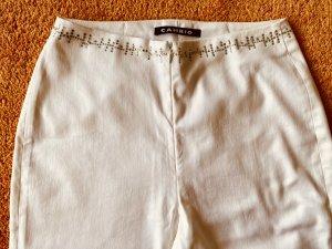 Damen Hose Stretch Glitzer Verzehr Gr.38 in Weiß von Cambio NW