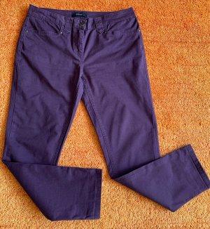 Damen Hose Stretch Jeans Gr.42 in Lila von Woman by Tchibo