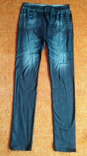 Damen Hose Stretch Leggings GR.S in Grau Verwaschener Optik