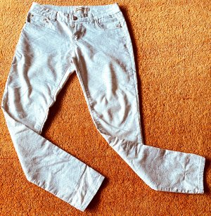 Reverse Stretch Jeans natural white cotton