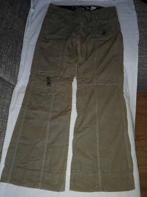 MBJ Flares olive green cotton