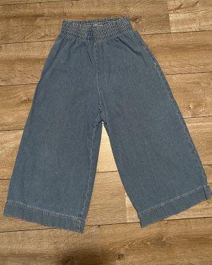 Bershka Pantalone largo blu fiordaliso