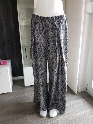 H&M Conscious Collection Pantalone palazzo blu-bianco Poliestere