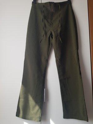 Zara Pantalón de campana gris verdoso
