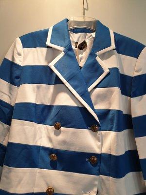Glööckler Tailleur-pantalon blanc-bleu