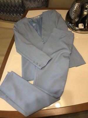 Asos Traje de pantalón azul celeste Poliéster