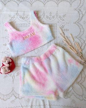 Sheinside Set lingerie bianco-fucsia neon