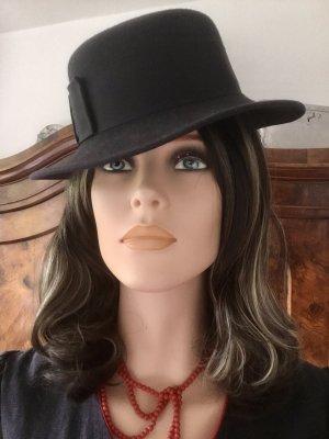 unbekannte Felt Hat dark blue wool