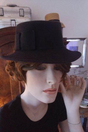 unbekannte Cappello in feltro blu scuro Lana