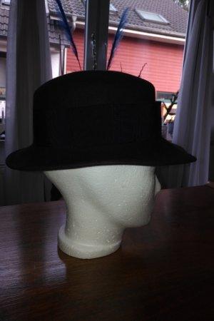 unbekannte Chapeau en feutre bleu foncé