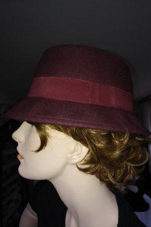 unbekannte Cappello in feltro bordeaux Lana