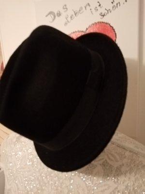 Faustmann Wollen hoed zwart-donkergroen