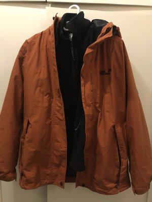 Jack Wolfskin Winter Jacket dark orange