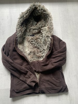 Jake*s Futrzana kurtka ciemnobrązowy