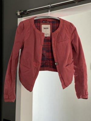 Tommy Hilfiger Denim Blouse Jacket dark red cotton